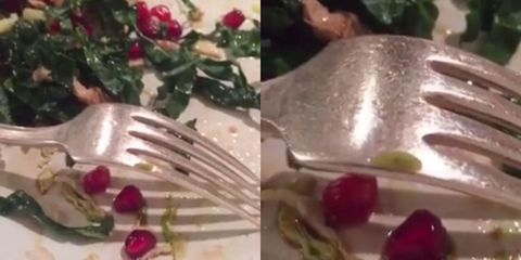 Maybe don't watch this nightmare video if you're having salad for lunch today
