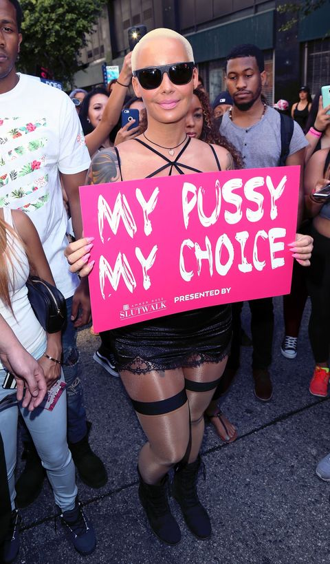 Amber Rose Slut Walk my pussy my choice
