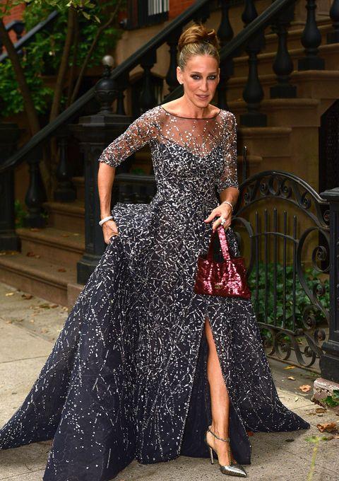 Sarah Jessica Parker Wearing A Carrie Bradshaw Dress