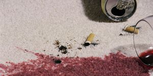 Wine and cigarette spills