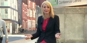 BBC reporter Sarah Teale has obscenities yelled at her while she's doing a segment on street harassment