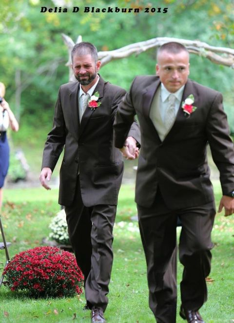 This heartwarming story of two dads walking down the aisle has gone viral