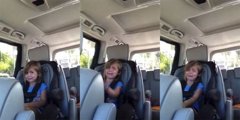 little girl crying about Adam Levine