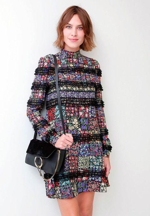 Alexa Chung in a floral dress