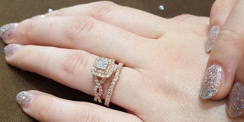 Unique and amazing engagement ring and wedding ring combinations