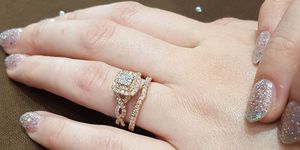 Unique engagement and wedding ring combinations