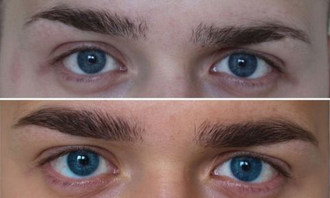 how to draw male eyebrows