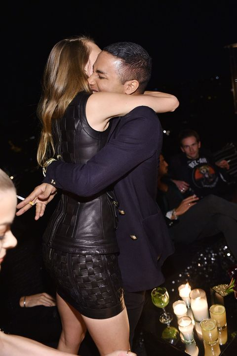 celebs, models, Kardashians and Jenners at the Olivier Rousteing birthday party