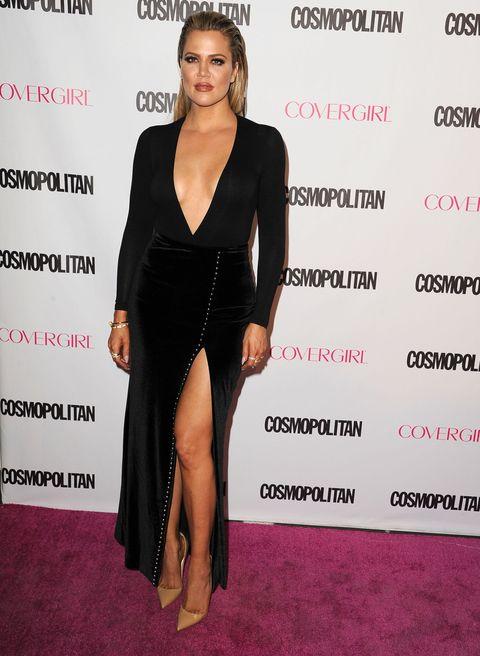 Khloe Kardashian at the Cosmopolitan cover party