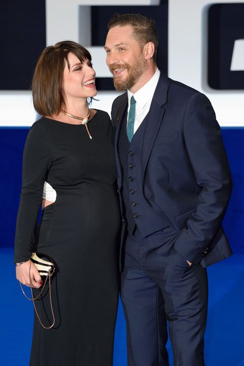Tom Hardy and Charlotte Riley at the Legend premiere