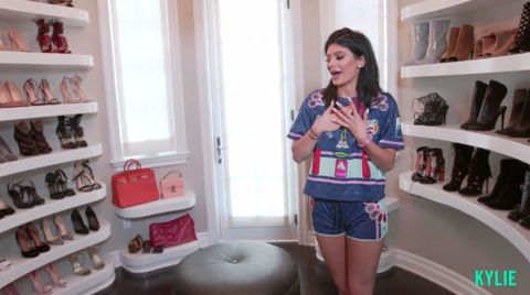 Kylie Jenner Shows Us Around Her Shoe Closet