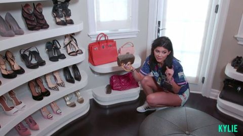 Kylie Jenner gives us a tour of her wardrobe on her website