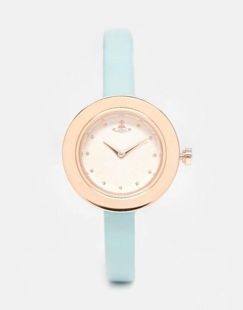 Product, Watch, Analog watch, Khaki, Font, Peach, Tan, Watch accessory, Clock, Aqua,