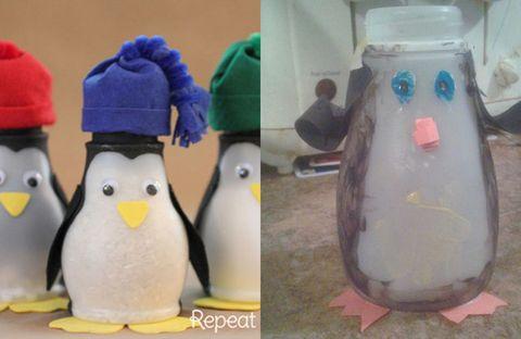Yellow, Penguin, Beak, Toy, Flightless bird, Plastic, Baby toys, Plush, Souvenir, Animal figure,