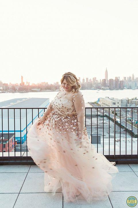 Nicolette Mason's wedding dress
