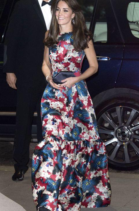 Kate Middleton in floral Erdem dress