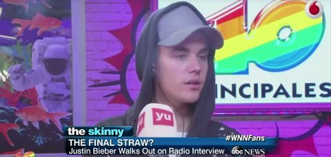 Justin Bieber just walked out of this awkward Spanish interview