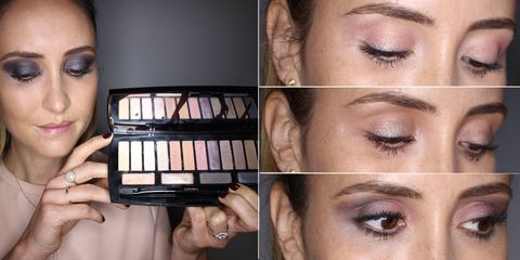 One eye shadow palette worn four ways