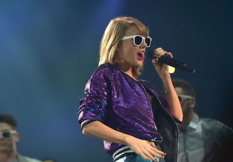 Taylor Swift performing Shake it Off on her 1989 World Tour
