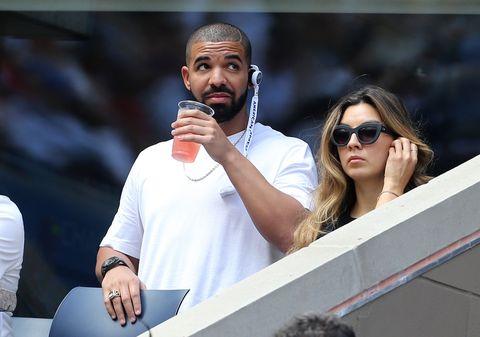 Drake at a Serena Williams tennis match