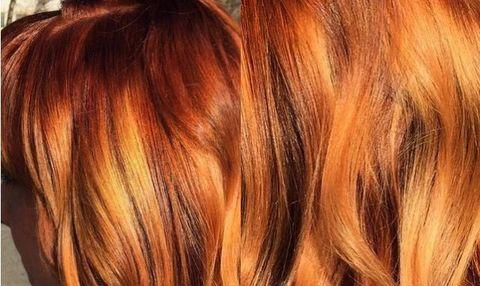 Pumpkin Spice Hair