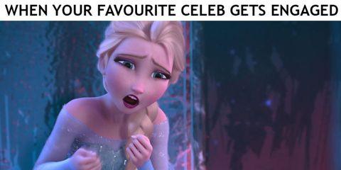 Frozen facial reactions