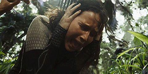 Jennifer Lawrence katniss crying