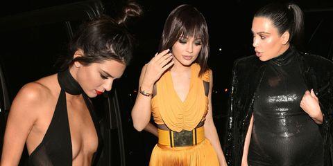 Kylie Jenner and Kim Kardashian at Kendall Jenner's 20th birthday
