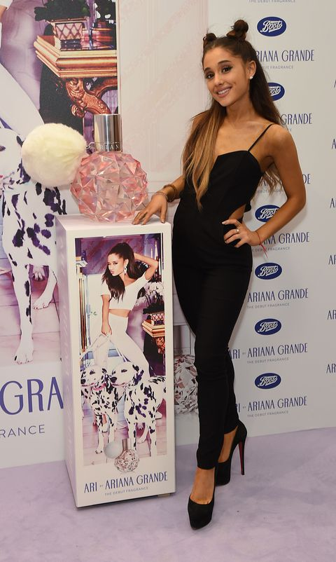 Ariana Grande at her fragrance launch