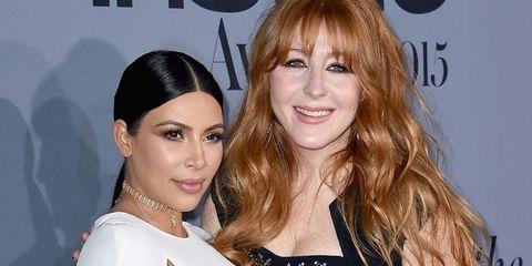 Kim Kardashian and makeup artist Charlotte Tilbury