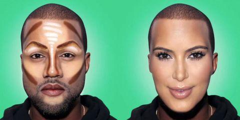 Kanye West transform into Kim Kardashian