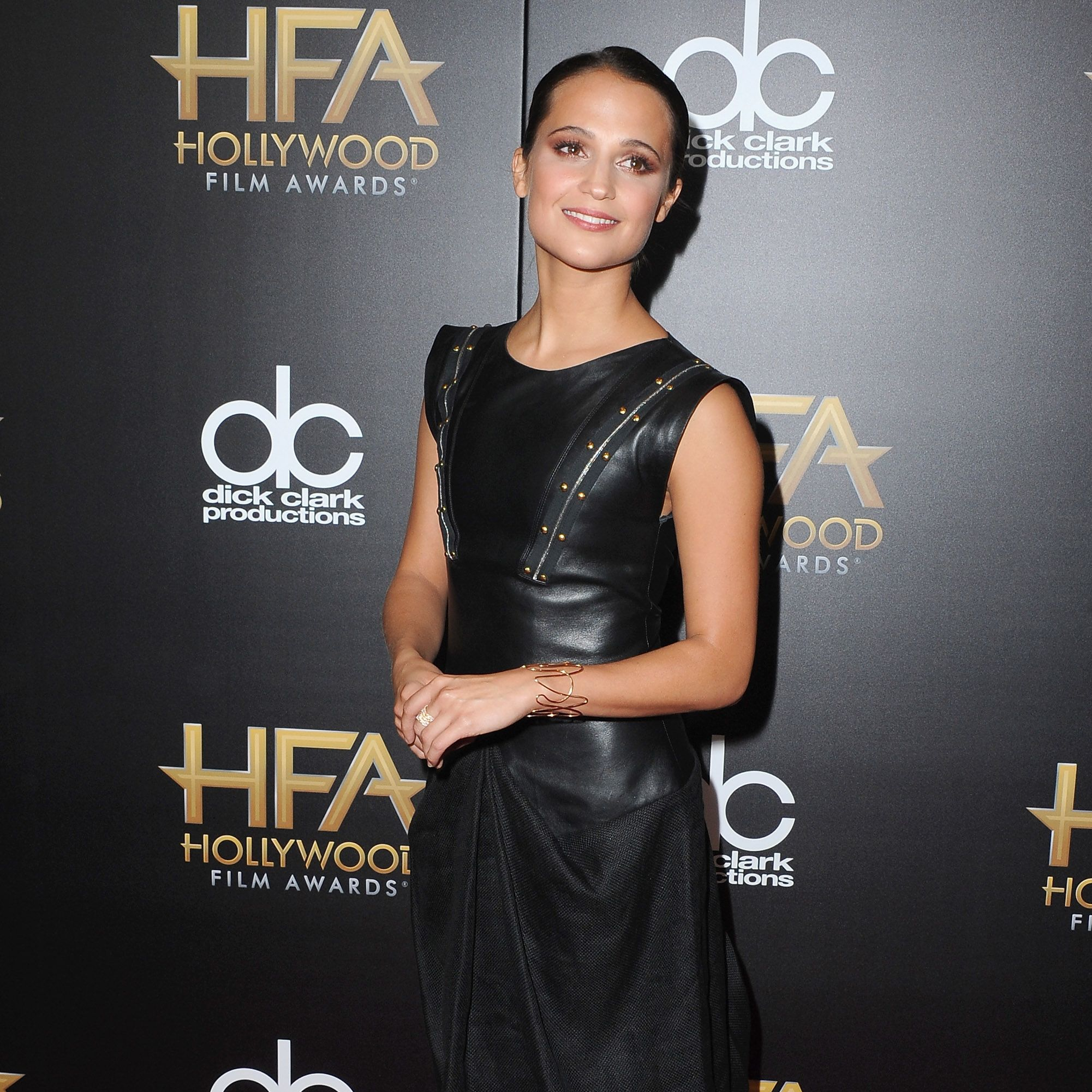 Celebrities on the red carpet at the Hollywood Film Awards 2015