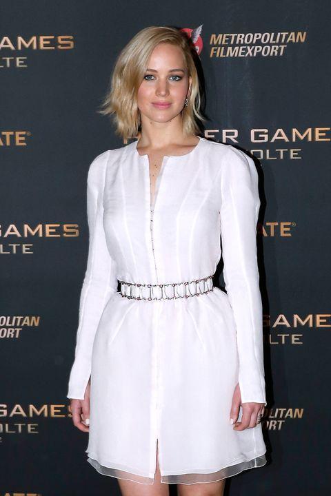 Jennifer Lawrence at the Mockingjay press call