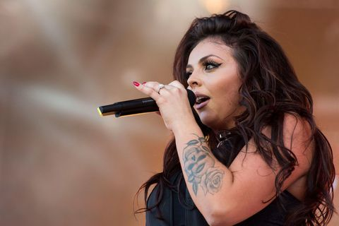Jesy Nelson leaves the Little Mix album launch party in tears