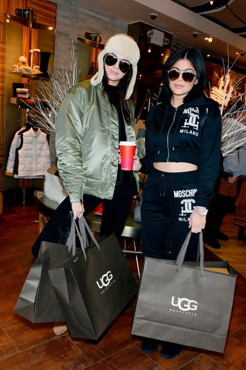 Kendall Jenner and Kylie Jenner shopping in UGG together