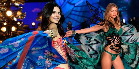 Kendall Jenner and Gigi Hadid at the Victoria's Secret 2015 Fashion Show