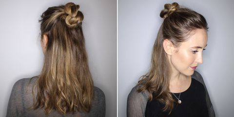 A Half Up Twisted Knot Hair Tutorial