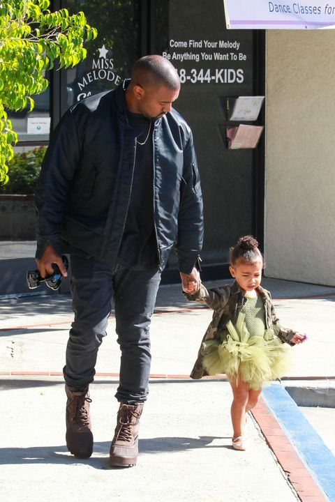 Kanye West and North West wearing a tutu