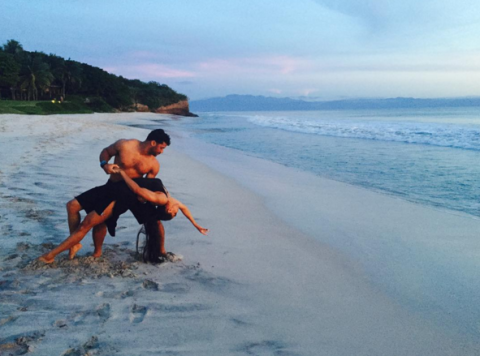 Ciara and Russell Wilson dancing on the beach while on a super romantic holiday in Mexico