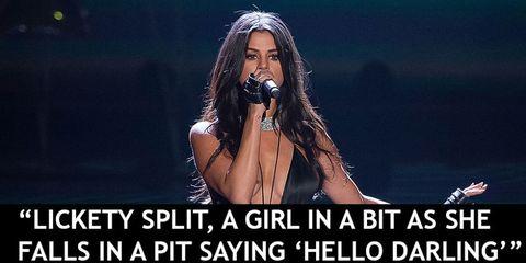 Selena Gomez lyrics make no sense