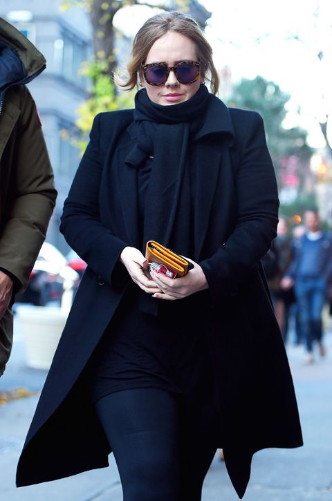 Adele gives us a lesson in looking utterly chic off duty
