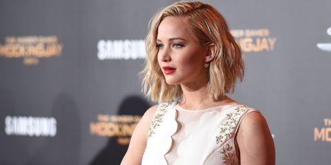 Jennifer Lawrence at the LA premiere of Hunger Games