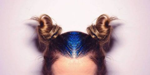 Meet the newest Instagram hair trend: glitter roots