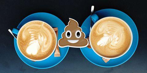 Hot drinks poo emoji