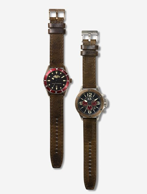 Product, Brown, Watch, Analog watch, Fashion accessory, Watch accessory, Wrist, Font, Black, Maroon,