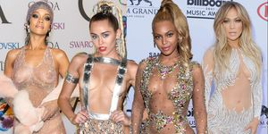 The most naked outfits of all time: Rihanna, Miley Cyrus, Beyonce and J.Lo