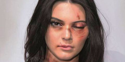Kim Kardashian and Kendall Jenner are not happy that artist aleXsandro Palombo used their photographs in a domestic violence campagin