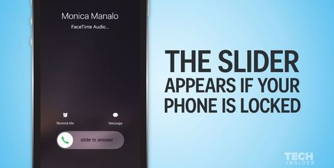 This is why there are two different ways to answer an iPhone call