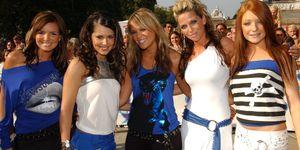 Girls Aloud in the noughties wearing loop belts