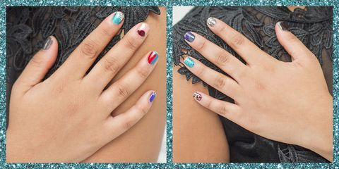10 ways to wear sparkly party nails